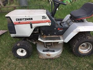 Riding lawnmower and parts for sale