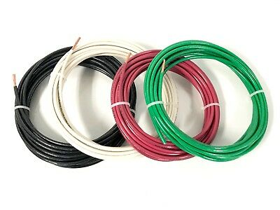 100 Feet Ea Thhn Thwn-2 8 Awg Gauge Red Black Green White Copper Building Wire