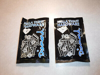 "2 Brand New Packages Diamond Hella Tight 1"" Inch Allen Hex Skateboard Hardware"