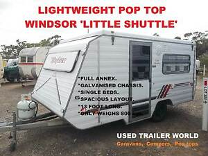 LIGHTWEIGHT. 13' POP TOP CARAVAN. WINDSOR 'LITTLE SHUTTLE' HAS FU Heathcote Sutherland Area Preview