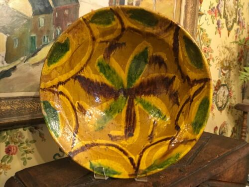 European Pottery Bowl Hand Painted Vintage