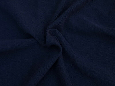 Dark Navy Cotton Knit Fabric by the Yard Double Crepe Heavy Weight (Heavyweight Double Knit)