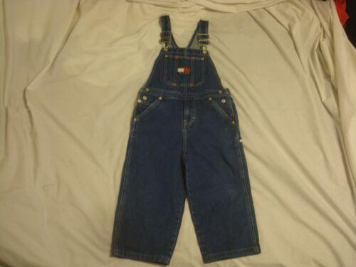 Kids Vintage Tommy Hilfiger Flag Jeans Bib Carpenter Overalls Youth Size 5