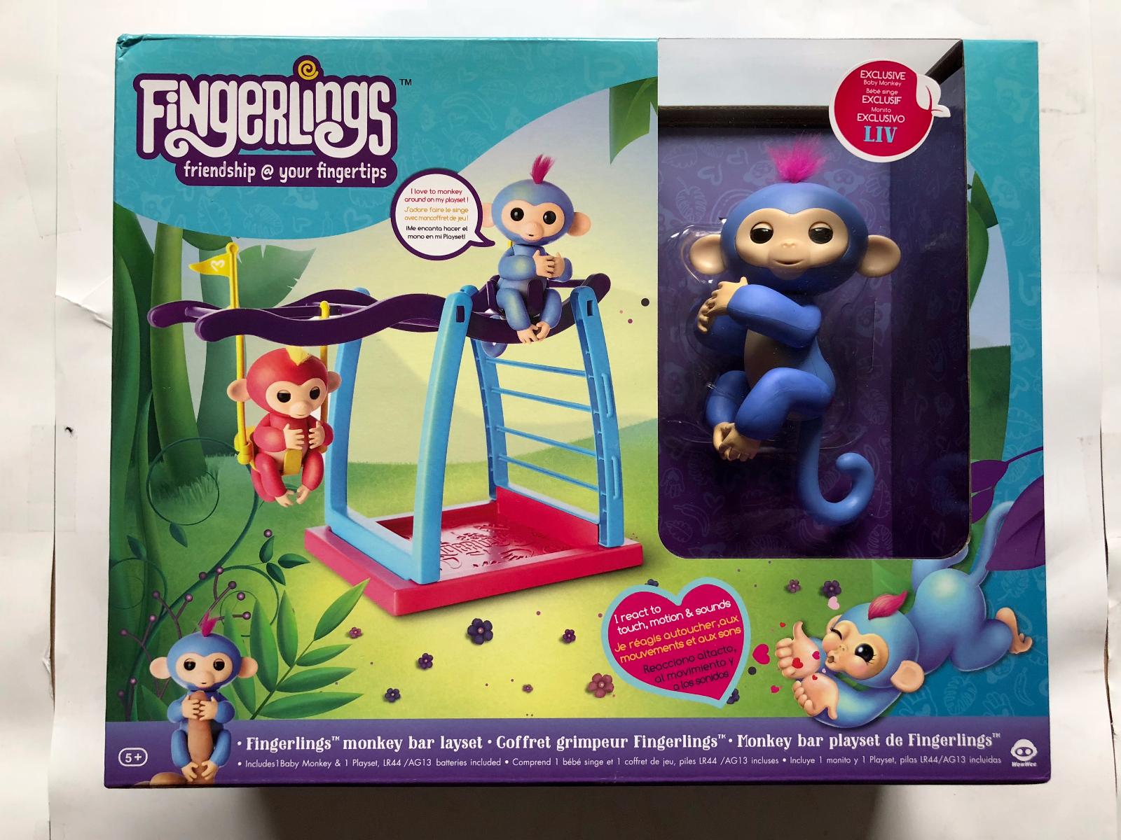 WowWee Fingerlings Playset - Monkey Bar/Swing Playground wit