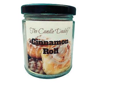 - Cinnamon Rolls Buns Cinn 6 oz ounce glass jar The Candle Daddy 40 plus hour burn
