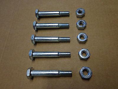 5 Stück Scherbolzen Schneefräse M6 6mm x 40mm universal für viele Hersteller