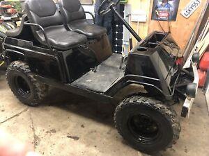 Lifted gas golf cart