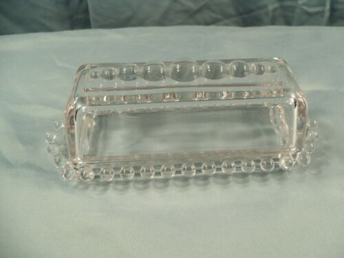 Imperial Clear Glass Candlewick Covered Stick Butter Dish