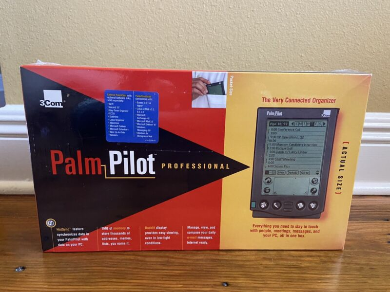 Palm Pilot Professional Organizer 3Com Brand New Sealed
