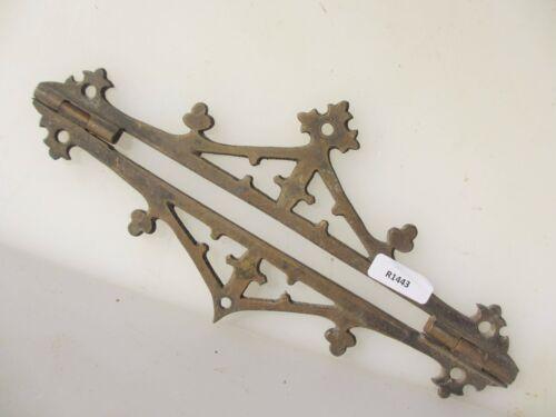 Antique Brass Hinge Mount Hardware Vintage Chest Box Old Victorian Pugin Gothic