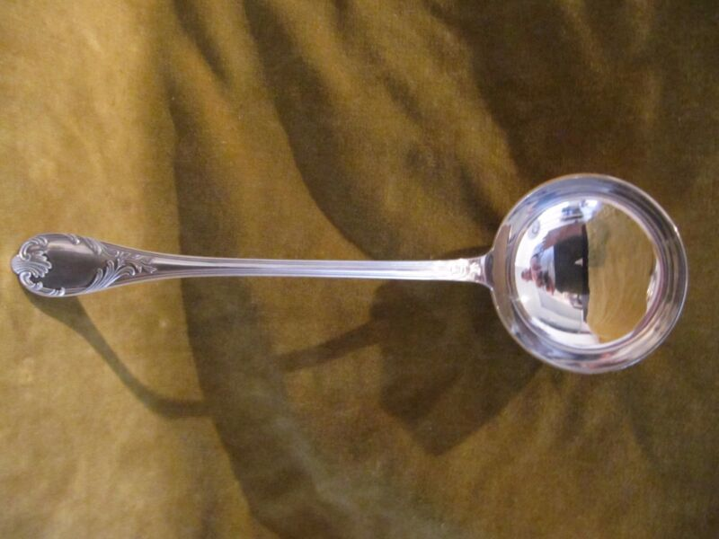 french silver-plate soup ladle christofle Marly pattern rococo st R+