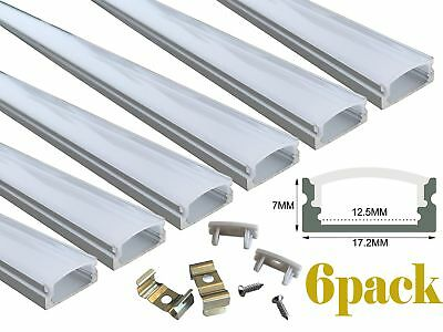 Muzata 6-pack 3.3ft1meter 9x17mm U Shape Led Aluminum Channel System With