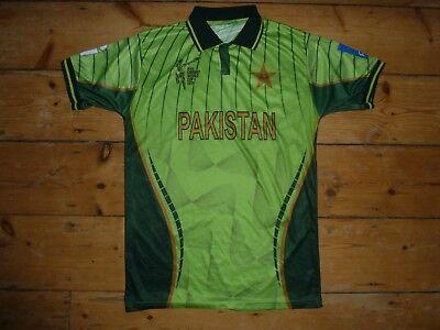 Medium Pakistan Cricket Hemd Vintage Cricket Trikot 2015 image