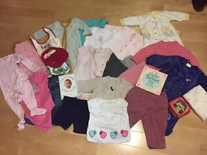 Large lot of like new 6-12 months  GAP baby girl clothes