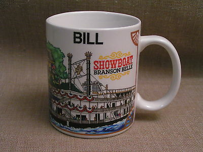 "Showboat Branson Belle MO. Sternwheeler Riverboat ""BILL"" Coffee Cup Mug - Mint!"