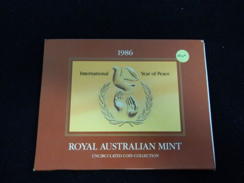 1986 Royal Australian Mint Uncirculated Coin Collection