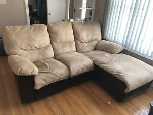 Sectional Couch and Chair (with recliners) Set
