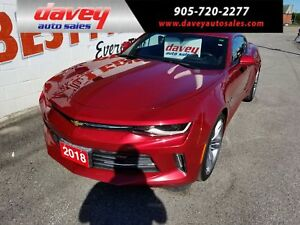 2018 Chevrolet Camaro 2LT HEADS UP DISPLAY, SUNROOF, LEATHER...