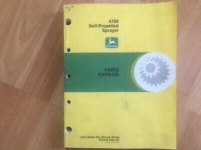 John Deere 4700 Self Propelled Sprayer Parts Catalog 510 Pgs Pc2448 Oem