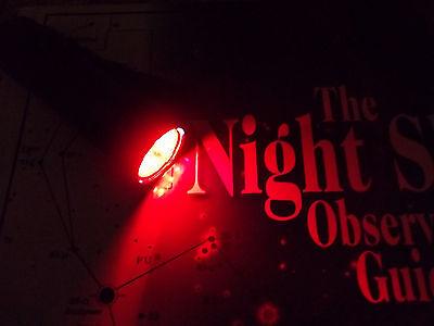 Night Vision Red Flashlight / Astronomy Flashlight- 6 LED/ 3 AAA - NEW!!