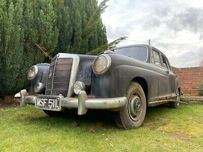 Rare 1955 Mercedes Benz 220A Ponton W180 MK I Investment Project Barn Find Car