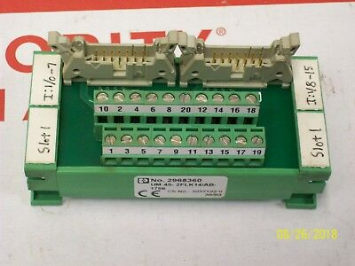 Phoenix Contact Terminal Block Wiring Block Um45-2flk14ab-1756 No. 2968360