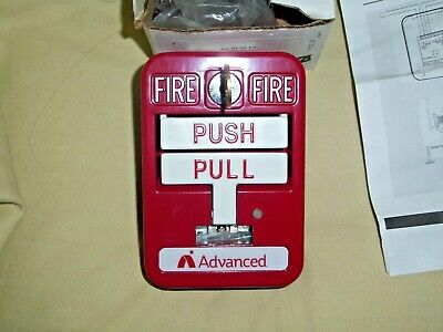 Advance Red Pull Down Fire Alarm Box Ax-psm2 With Key