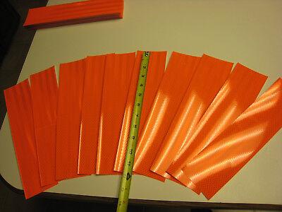 10 Pcs Neon Orange Reflective  Conspicuity Tape Strips 3x 12