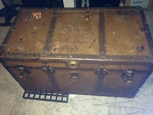 Large steamer trunk