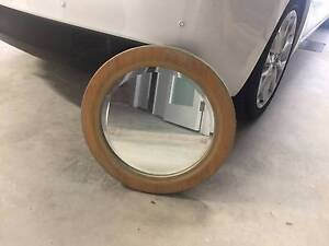 Small Circle Timber Frame Mirror (550mm) Putney Ryde Area Preview