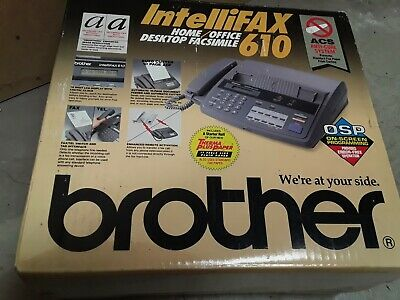 Brother Intellifax 610 Plain Paper Fax Phone Copier - New In Box
