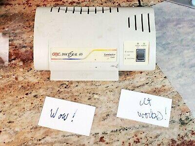 Gbc Docuseal 40 Hot Card Laminator Tested Works