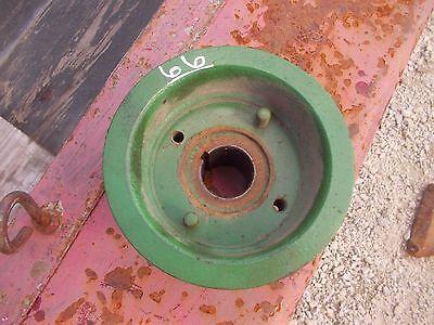 Oliver 66 Tractor White 244 Engine Crank Crankshaft Belt Drive Pulley 180195