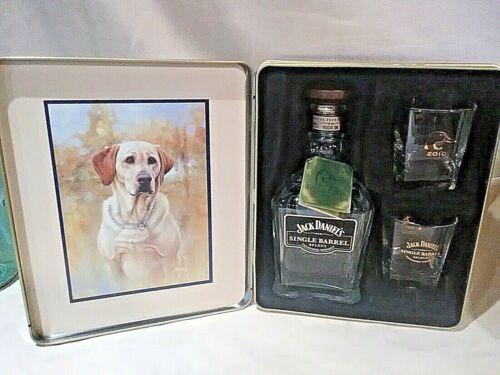 Jack Daniels 2010 Ducks Unlimited Commemorative Edition Tin W/Bottle & 2 Glasses