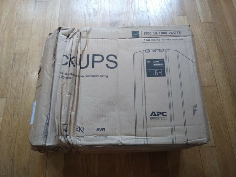 NEW APC BX1500M, 1500VA / 900 WATTS, Battery Backup & Surge Protector -Black