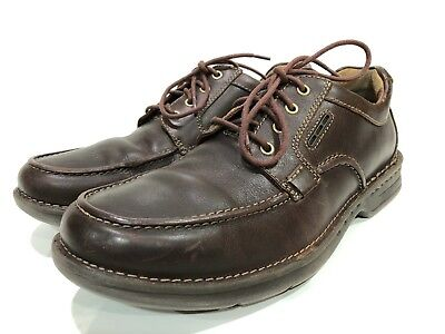 Clarks Unstructured Men's Brown Leather Oxfords Lace Up Shoes Size 8.5 M