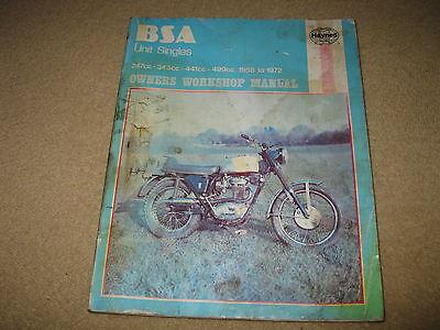 Haynes BSA Motorcycle Owners Workshop Manual - Unit Twins
