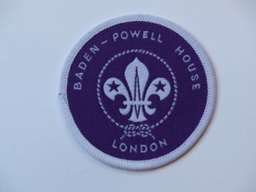Unused Vintage BADEN-POWELL HOUSE LONDON United Kingdom Scout Badge Round Patch