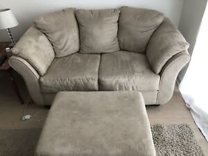 Couch love seat chair and ottoman