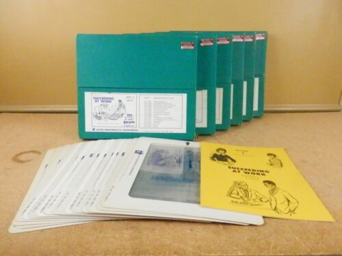 Vintage Succeeding at Work Transparencies Set S69 Employee Training Materials