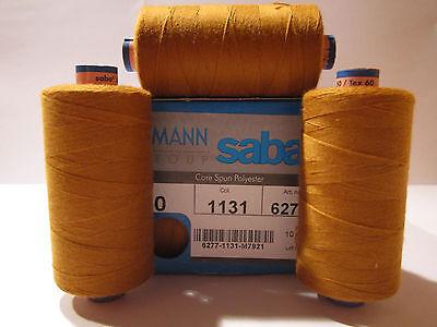 (1,80€/100m)Stärke Nähgarn AMANN SABA :30er 300m Farbe Jeans - gold   (Col.1131)
