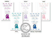 50 Personalised Save The Date Fairytale Cinderella Wedding Cards - house of zorah - ebay.co.uk