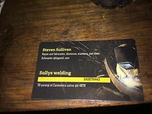 Sully' welding Caravonica Cairns City Preview
