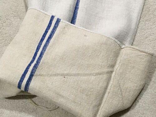 Antique Vintage European Grain Sack Hand Woven Cotton with Linen circa 1900