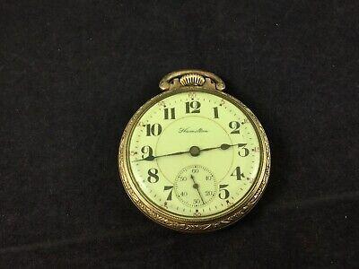16S Hamilton 17J Grade 978 Gold Plated Railroad Display Case Pocket Watch