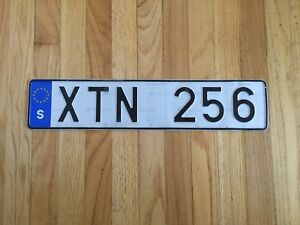 Real European License plate!