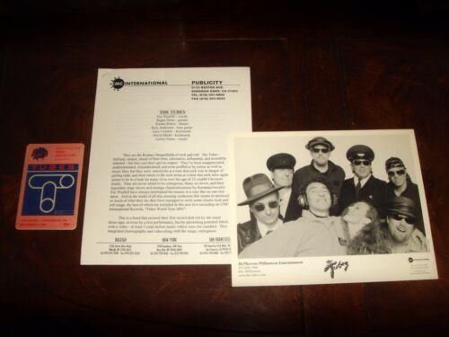 Ultra Rare THE TUBES 2001 SANCTUARY RECORDS PRESS KIT, PHOTO,1981 BACKSTAGE PASS