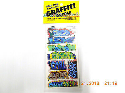 BLAIR LINE LASER CUT GRAFFITI DECALS HO SCALE #2261 SET # 12 Laser Cut Decals