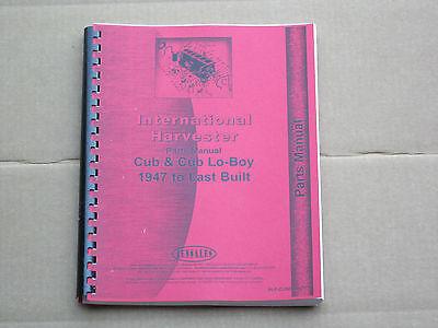 Jensales Parts Manual For Ih International Cub Lo-boy Farmall