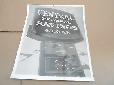 061 Vintage Milwaukee Wi Advertising Sign Photo   Central Federal Savings